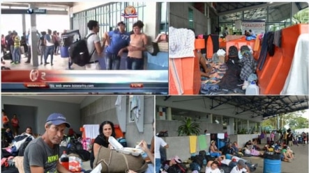 Imágenes de cubanos varados en Costa Rica que circulan en las redes sociales