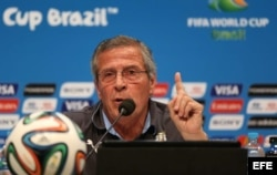 El director técnico de Uruguay Óscar Tabárez.