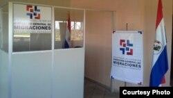 Punto de control de inmigración en Paraguay