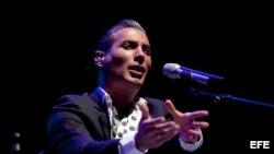 """El cantaor de flamenco Pitingo durante el concierto en el que ha presentado su último trabajo """"Malecón Street"""" en el marco del 32 Festival de la Guitarra de Córdoba."""