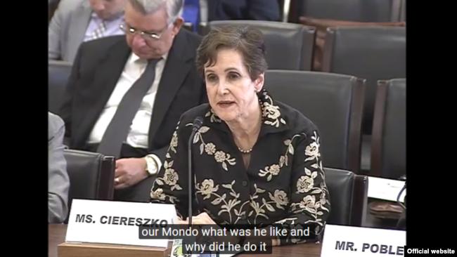 Ana Alejandre ante el sub comité de seguridad de la Cámara de Representantes