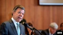 \Fotografía cedida por Presidencia de Colombia del mandatario Juan Manuel Santos.