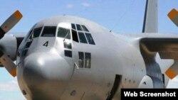 Avión Hércules de la Fuerza Aérea de Sudáfrica que viajó a Cuba