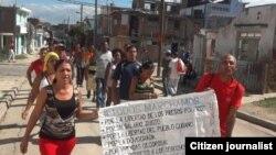 Marcha Santiago domingo 7 febrero Reporta Cuba Foto de Yriade Hdez