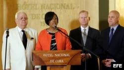 Alcaldes de Estados Unidos de visita en La Habana, Cuba.