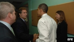 Joe García con el presidente Barak Obama