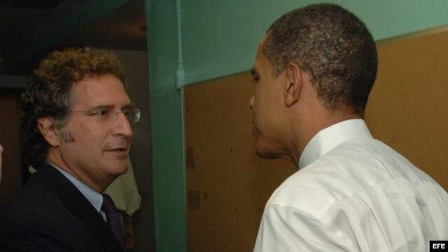 Joe García con el presidente Barack Obama