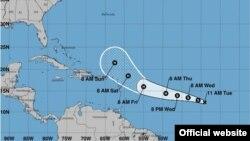 Posible trayectoria de la tormenta tropical José. (NHC)