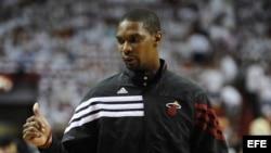 El jugador del Miami Heat Chris Bosch. Foto de archivo.