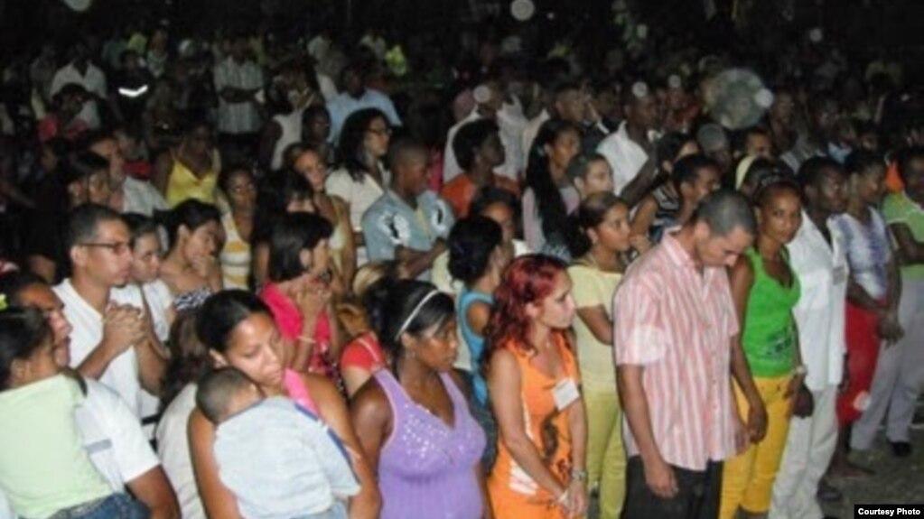 Evangélicos en Santiago de Cuba.