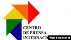 Logo del Centro Internacional de Prensa, La Habana, Cuba.