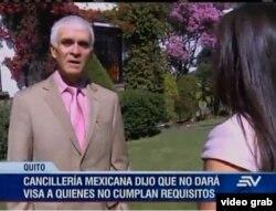 Juan Manuel Nungaray, ministro de la Embajada de México en Quito, reiteró a Ecuavisa que no recibirán a los cubanos.