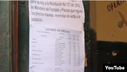 precios topados en mercados cubanos
