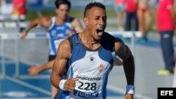 Orlando Ortega se proclamó campeón de España de 110 metros vallas.