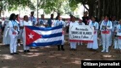 Reporta Cuba Damas de Blanco Febrero 15 Foto Angel Moya