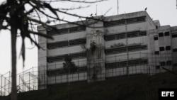 Vista de la cárcel militar de Ramo Verde, ubicada en las afueras de Caracas