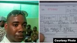 Serafín Morán detenido y multado este 24 de julio, en La Habana.