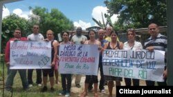 foto Yelky Puig activistas Pinar del Rio