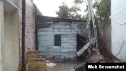 Vivienda dañada en Nuevitas, Camaguey