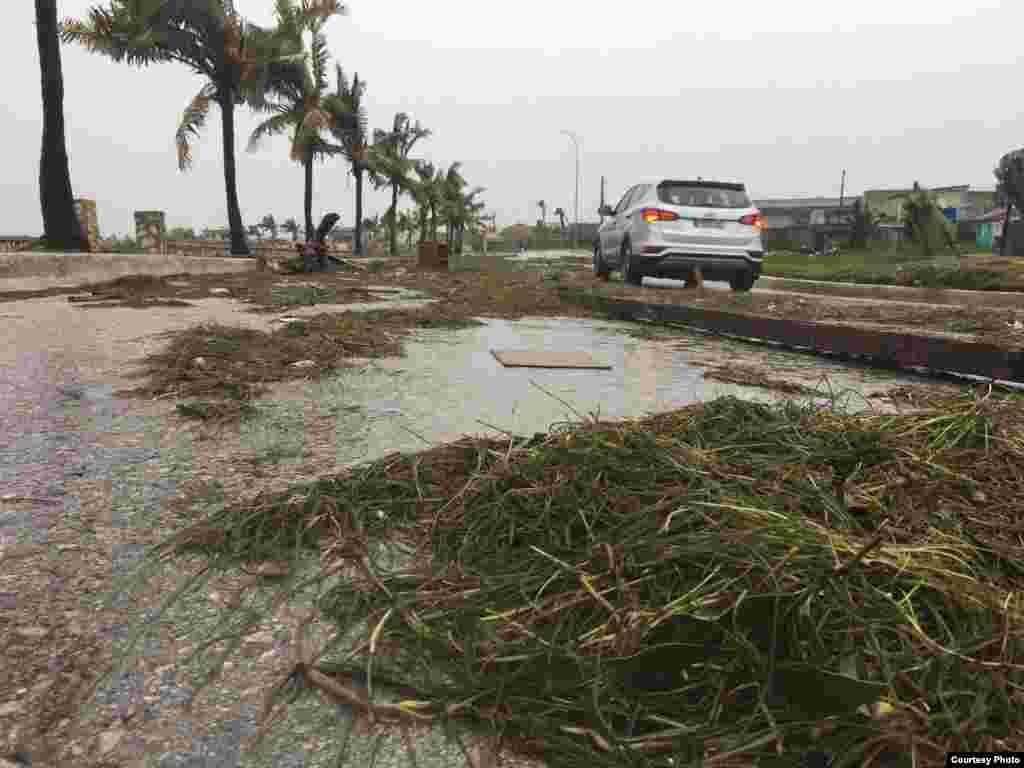 Imágenes de Caibarién tras el paso de Irma /Cortesía de H Vela - WPLG-TV