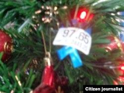 Reporta Cuba. Adornos de Navidad. Foto: Bárbara Fernández.