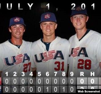 Tres lanzadores universitarios estadounidenses blanquearon a Cuba.
