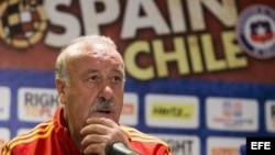 El entrenador de la selección española de fútbol, Vicente del Bosque.