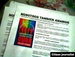 """Campaña """"Nosotros también amamos"""". (Foto: Nabit Fernández)"""