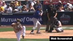 El lanzador derecho cubano, Odrisamer Despaigne.