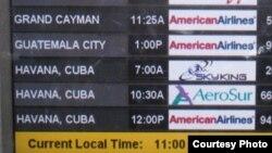 Solo desde Miami salen entre ocho y nueve vuelos fletados diarios hacia Cuba