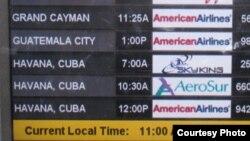 Solo desde Miami salen entre ocho y nueve vuelos fletados diarios hacia Cuba.