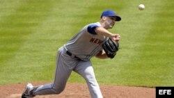 El lanzador de los Mets de Nueva York Dillon Gee.