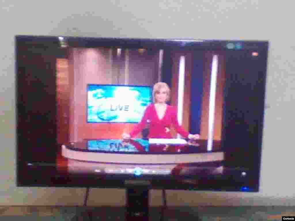 """Programa """"Antena Live"""" de TV Martí/Fotos cortesía de la Comisión de Información y Prensa del MCJD"""