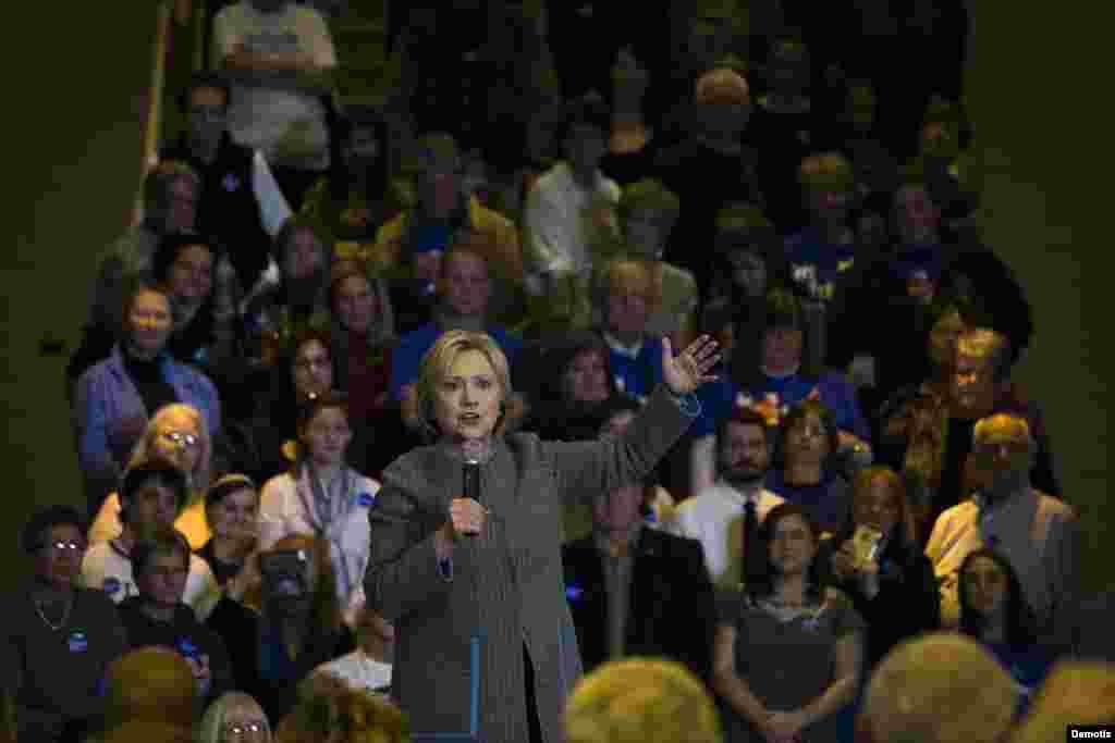 Hillary Clinton en Iowa.