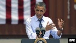 Fotografía de archivo del presidente de Estados Unidos, Barack Obama. EFE/Brian Blanco