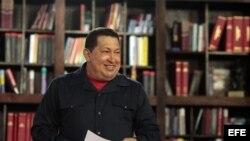 Fotografía de archivo del presidente de Venezuela, Hugo Chávez.