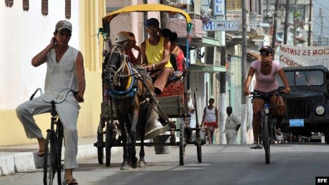 Calles de Santa Clara, Villa Clara, Cuba.