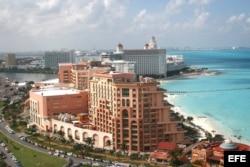 La zona hotelera de Cancún, uno de los centros de operaciones de los traficantes cubanos.