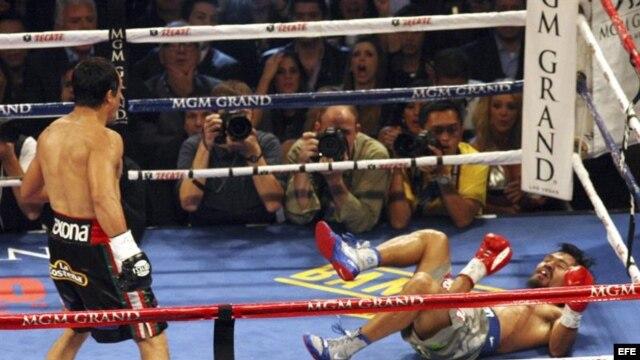 Márquez noqueó a Pacquiao en el MGM Grand Garden Arena de Las Vegas, Nevada.