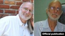 Los abogados de Gross proporcionaron estas fotos de Gross antes de su arresto y ahora.
