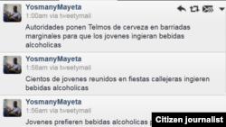 Reporta Cuba resena en twitter noche de sabado @yosmanymayeta.