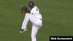 El lanzador cubano Odrisamer Despaigne.