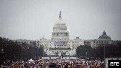 """Centenares de miles de personas recorren este sábado las calles de Washington en la """"Marcha de las Mujeres"""", con consignas en defensa de la diversidad y de los derechos humanos."""