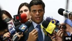 El opositor venezolano Leopoldo López.