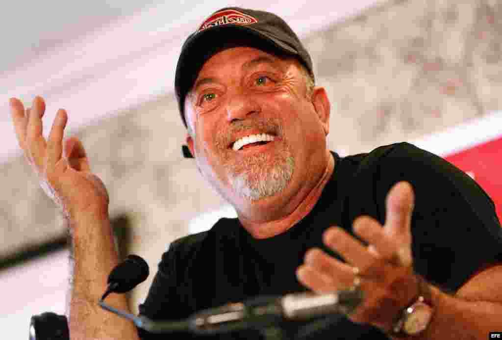 Billy Joel durante una rueda de prensa en Johanesburgo, Sudáfrica. (2006).