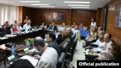 Expertos de salud de EEUU y Cuba reunidos en La Habana.