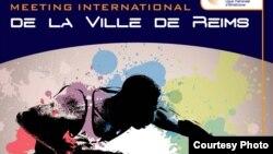 Afiche del evento deportivo en Reims.