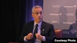 El amigo íntimo de Barack Obama y alcalde de Chicago, Rahm Emanuel.