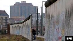 Hueco de 19 metros en la parte del muro de Berlín de la calle Bernauer.