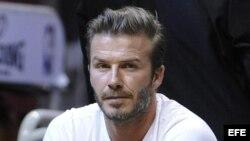 El exjugador de fútbol británico David Beckham.